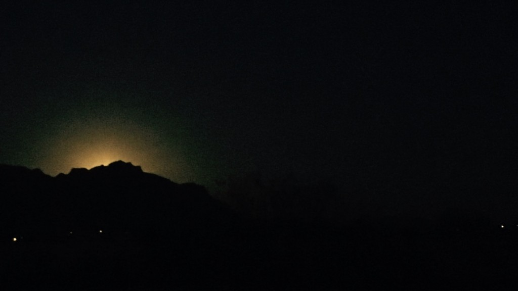 Moonrise at the Superstition Mountains
