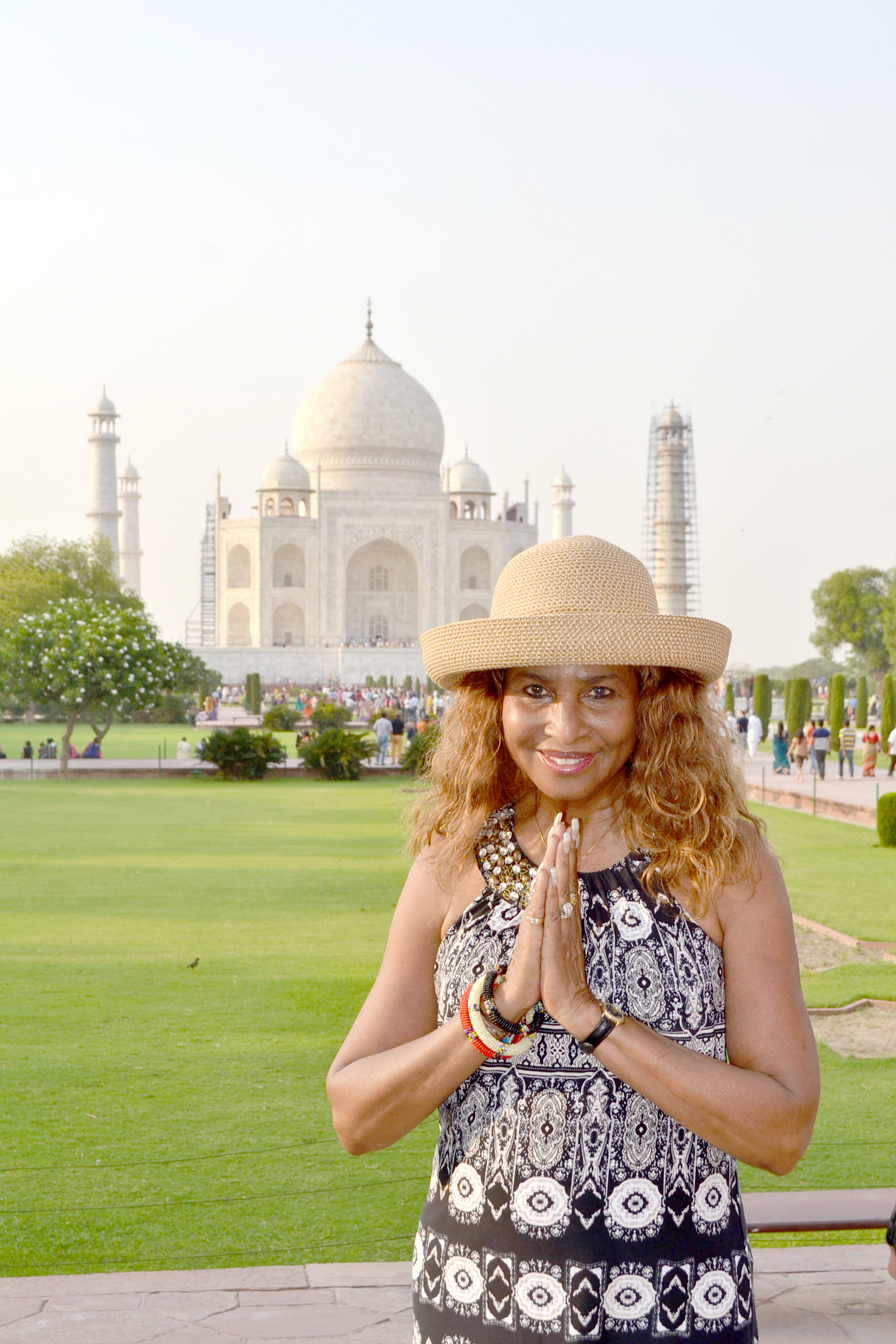 Toni at the Taj Mahal