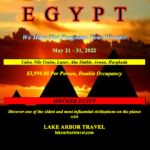 Egypt 10 Day Tour May 2022